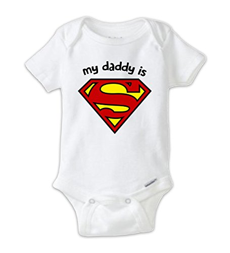 My Daddy is Superman Baby Bodysuit Onesie, Unisex