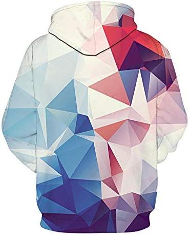 Sweatshirts Tops T-Shirts Kapuzenpullover Hipster-Nebel Galaxy Print 3D Hoodie Frauen Männer Sweatshirts Jumper Outfits Casual Sweats^ Picture_Color_L