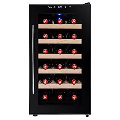 Firebird 18 Bottles Thermoelectric Adjustable Control Electric Freestanding Wine Cooler w/ LED display light