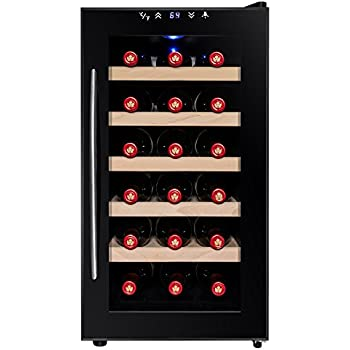 Firebird 18 Bottles Thermoelectric Adjustable Control Electric Freestanding Wine Cooler w/ LED display light (WC0025)