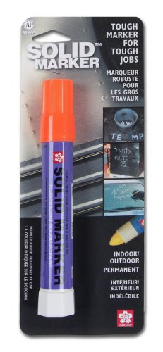 - Sakura Solidified Paint Solid Marker, 14 to 392 Degrees F, Fluorescent Orange