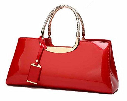 Bolsos de Compras Bolsas Charol AgooLar Women's Hombro Casual Rojo Cruzados OwA6n0xq