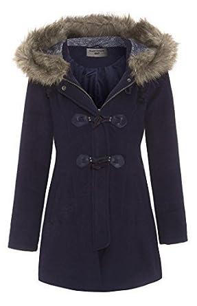 Navy parka coat womens uk