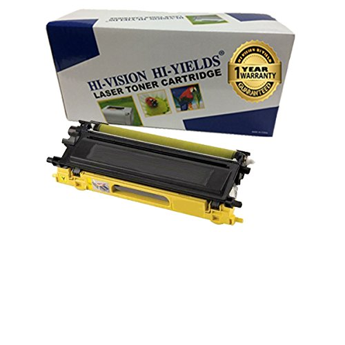 (HI-VISION HI-YIELDS Compatible Toner Cartridge Replacement for Brother TN115 (Yellow) for DCP-9040CN, DCP-9045CDN,HL-4040CDN, HL-4040CN, HL-4070CDW, MFC-9440CN, MFC-9450CDN, MF)