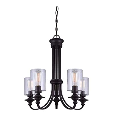 Canarm ICH431A04ORB Quincy 4-Light Chandelier, Oil Rubbed Bronze -  - kitchen-dining-room-decor, kitchen-dining-room, chandeliers-lighting - 414g33KKoeL. SS400  -