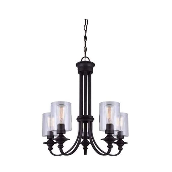 Canarm ICH431A04ORB Quincy 4-Light Chandelier, Oil Rubbed Bronze -  - kitchen-dining-room-decor, kitchen-dining-room, chandeliers-lighting - 414g33KKoeL. SS570  -