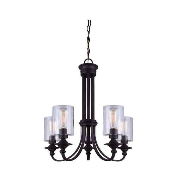 Canarm ICH431A03ORB16 Quincy 3-Light Chandelier -  - kitchen-dining-room-decor, kitchen-dining-room, chandeliers-lighting - 414g33KKoeL. SS570  -