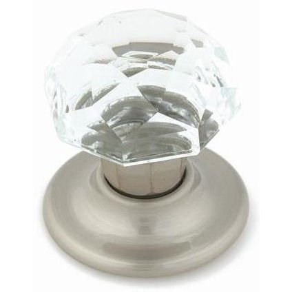 Amerock E5247-2-CSG Clear Crystal with Satin Nickel Base Oversize Bi-Fold Door Knob Hardware, 1-3/4 Inch Diameter (Closet Bifold Sizes Doors)