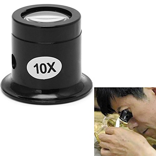 Label Maker Factory (Honmofun Magnifying Glass Mirror Jewelers Magnifier Loupe Professional Watch Repair Magnifier Jewelry Diamonds Coins Miniatures Engravings Markings Magnifying Glass for Watch Jewellery Repair 10 Times)