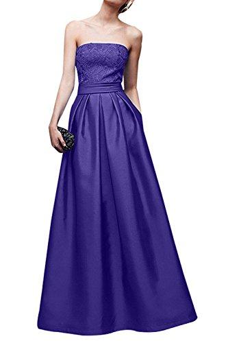 Braut Linie A Elegant La Lang Ballkleider Jugendweihkleider Spitze mia Brautmutterkleider Festlichkleider Abendkleider Lila Satin 5ZwRvTBnwq