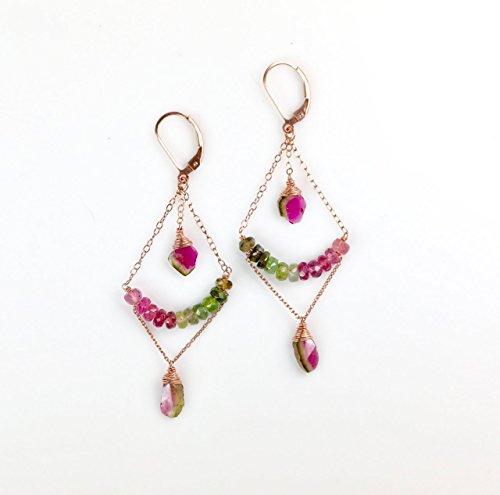 Dangling Tourmaline Earrings - 9