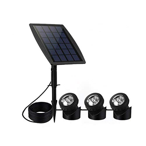 CHY-LIGHT Solar Powered Super Bright Submersible Lights, Solar Underwater Lights Lawn Rooftop Park Pond Fountain Aquarium Outdoor Courtyard Wall Lights,Black - Fish Wall Fountain