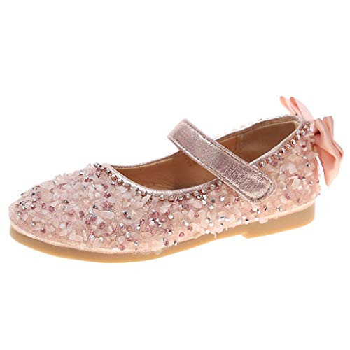 Tantisy ♣↭♣ ToGirls Ballet Flats Shoes Ballerina Jane Mary Wedding Princess Dress Pink