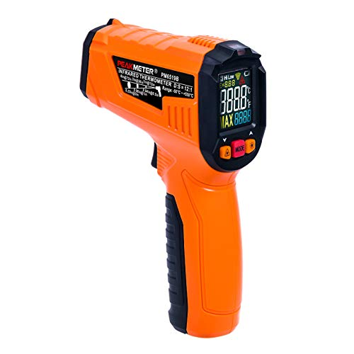 Infrared Thermometer, Non-Contact Digital Temperature Gun, IR Laser Thermometer-50~550℃ (-58℉~1022℉) with LCD Display Instant Read, Adjustable Emissivity, Meat Thermometer Included Suntime