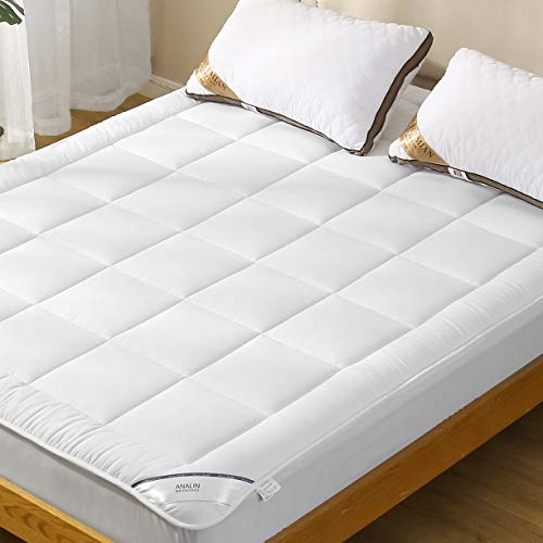 ANALIN Mattress Pad with Deep Pocket Microplush Mattress Topper with Fitted Skirt Quilted Stretch Pillow Top