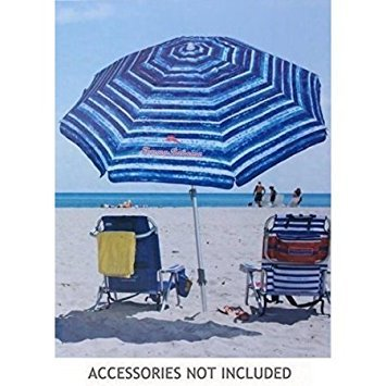 Tommy Bahama Sand Anchor 7 feet Beach Umbrella with Tilt and Telescoping Pole...