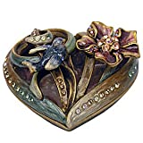 Jay Strongwater Floral Heart Shaped Box