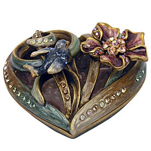 Jay Strongwater Floral Heart Shaped Box by Jay Strongwater (Image #1)