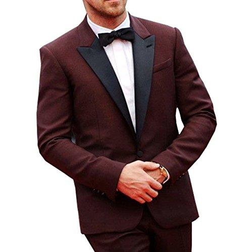 Ryan Gosling Burgundy Prom Tuxedo 2 Peice - Gosling Ryan Pants