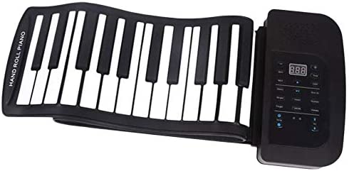 WYANAN Electronic Hand Roll Piano 61 Key Thickened Midi Controller Keyboard Portable Beginner Keyboard Roll Up Musical Piano / WYANAN Electronic Hand Roll Piano 61 Key Thickened Midi Controller Keyboard Portable Beginner Keyboard R...