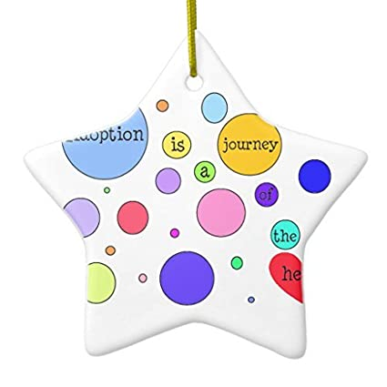 Funny Christmas Ornaments for Kids Adoption Journey Of Heart Circle Rounds  Ornament Star Holiday Tree Ornaments - Amazon.com: Funny Christmas Ornaments For Kids Adoption Journey Of