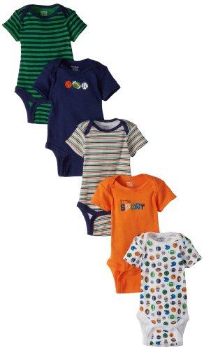 Gerber Baby-Boys  Sports Five-Pack Variety Onesies