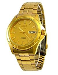 Seiko Men's 5 Automatic SNKK98K Gold Stainless-Steel Automatic Watch with Gold Dial