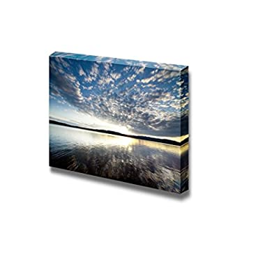 Beautiful Scenery Landscape Lake View at Sunset with Clouds on The Blue Sky - Canvas Art Wall Art - 16