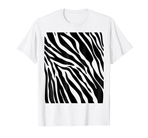 Zebra Print Shirt, Simple Halloween Costume Idea Gift ()