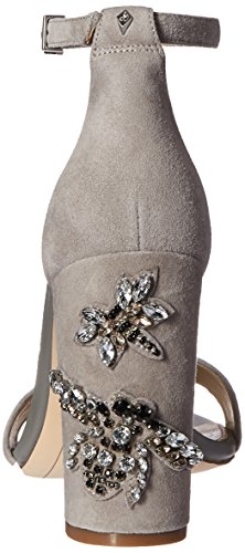 Women's Grey Frost Edelman Sandal Dress Suede Jeweled Yaro Sam 2 vgqw5a
