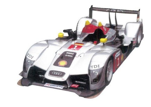 (Ixo 1/43 Scale Prefinished Fully Detailed Diecast Model, Audi R15 TDI LMP1, Third Place 2009 LeMans, TDI Power, #1, Capello, Kristensen & McNish #LMM161)