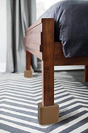 Amazon.com: iPrimio - Elevadores de cama, color marrón, abs ...