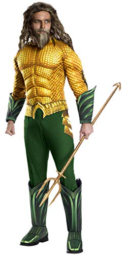 Rubie's Men's Standard Movie Adult Aquaman Deluxe Costume, as as Shown, Extra-Large