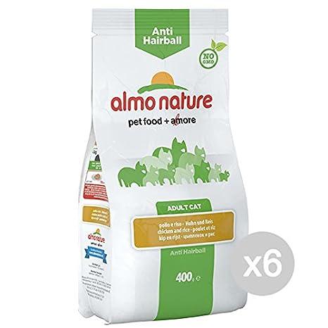 Almo nature Juego 6 Gato 663 Croccantini 400 A/Hairball Pollo RIS Comida para Gatos: Amazon.es: Productos para mascotas
