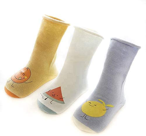Nemo Baby Unisex Baby Girl Boy Organic Cotton Knee High Socks All seasons (pack of 3) (6-12 month, Ivory, Mustard, Gray-Blue)