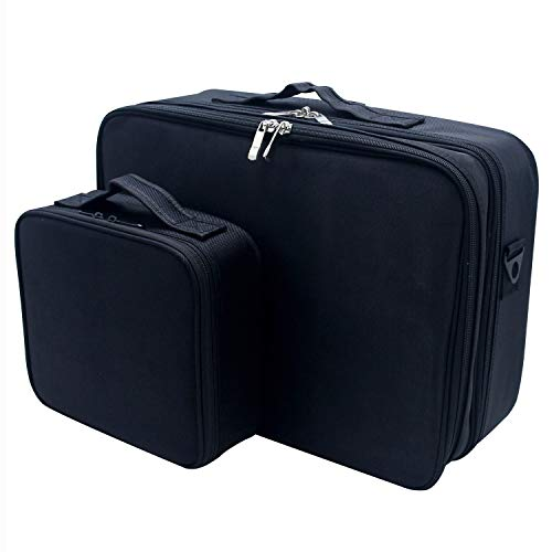 Relavel 3 layer Multi -Functional Professional Makeup Train Case ... 9f8bb92fe53fd