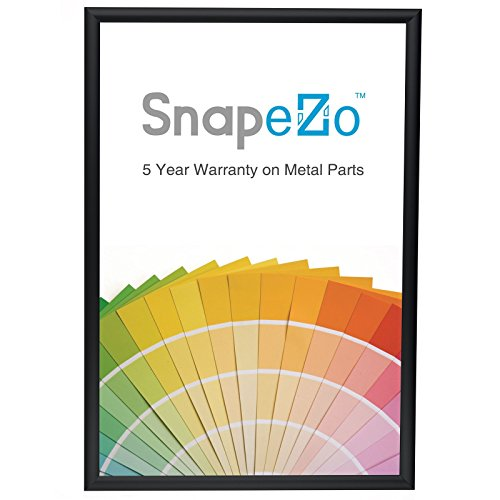 SnapeZo Poster Frame A2 Size (16.5 x 23.4 inches), Black 1 Aluminum Profile, Front-Loading Snap Frame, Wall Mounting, Sleek Series