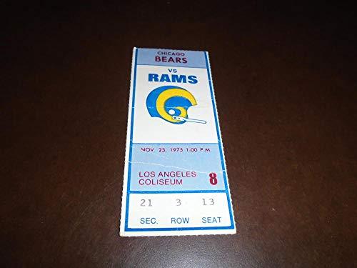 1975 CHICAGO BEARS AT LA RAMS FOOTBALL TICKET STUB WALTER PAYTON ROOKIE