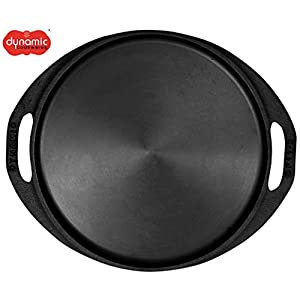 Dynamic Cookwares, 11 Inch Premium Cast Iron Dosa/Roti/Pizza Tawa (Pre-Seasoned | Induction Compatible)
