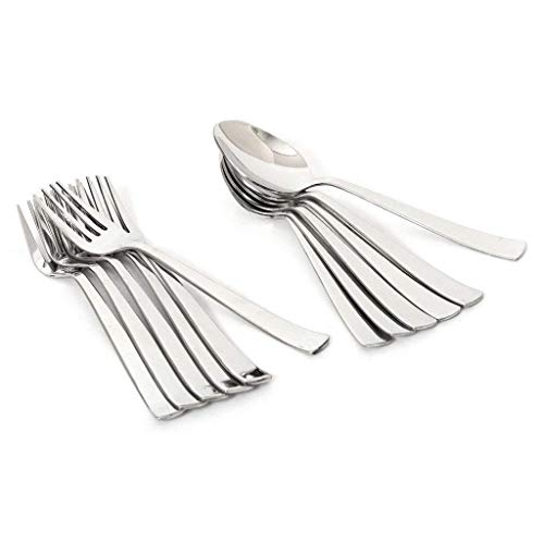 Parage Stainless Steel Table Spoon & Fork for Tea, Coffee, Sugar, Condiments & Spices – Set of 12 (Contains 6 Table Spoons, 6 Forks) Price & Reviews