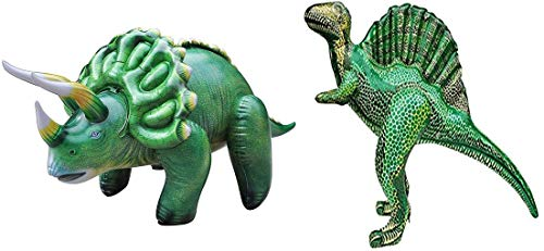 Jet Creations Inflatable Dinosaur 2 Pack - Triceratops and Spinosaurus