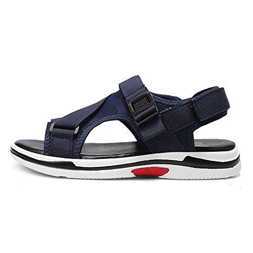 Velcro Outdoor Spiaggia Sandali Blue Estate Pantofole Casual LEDLFIE Uomini da Scarpe wq4xBFX6