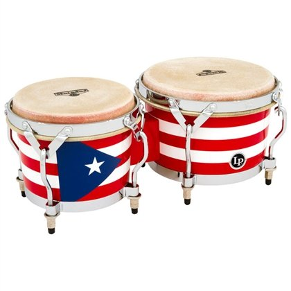 Latin Percussion Matador Puerto Rican Heritage Wood Bongos