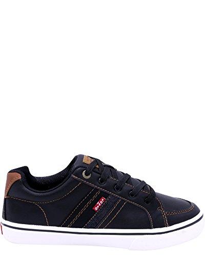 Metal Nappa Footwear - Levi's Shoes Baby Boy's Turner Nappa (Toddler/Little Kid/Big Kid) Black/Tan 1 M US Little Kid