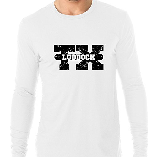 Hollywood Thread Lubbock, Texas TX Classic City State Sign Men's Long Sleeve -