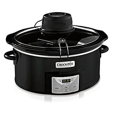 Crock-pot SCCPVC600AS-B 6 quart Digital Slow Cooker with iStir Stirring System, Black/Stainless Steel
