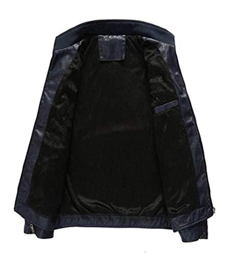 Bolsillos Abrigo Abrigos De Solapa De Estilo Mezclilla Dunkel Simple Hombre Manga Chaqueta De Un Abrigo De Delanteros Chaqueta Agujeros para Blau Larga Mezclilla Solo Pecho I1xWwHT
