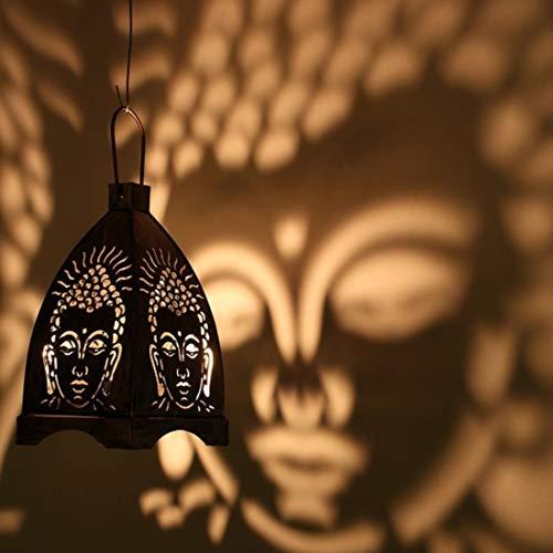 Hashcart Traditional Tea Light Candle Holder/Metal Candle Light Holder Set/Designer Votive Candle Holder Stand/Table Decorative Candle Holders, Buddha Shadow Tea Light for Home Living Room & Office