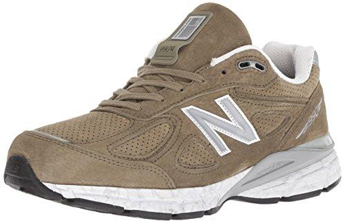 New Balance Men's 990v4 Running Shoe, Covert Green/White, 7 D US by New Balance (Image #1)