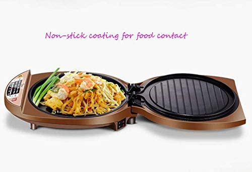Electric Skillet bakblik, Digital Display, Non-Stick bakblik, 1500W Huis Dubbelzijdig Verwarming Multifunctionele Pizza Machine xiao1230